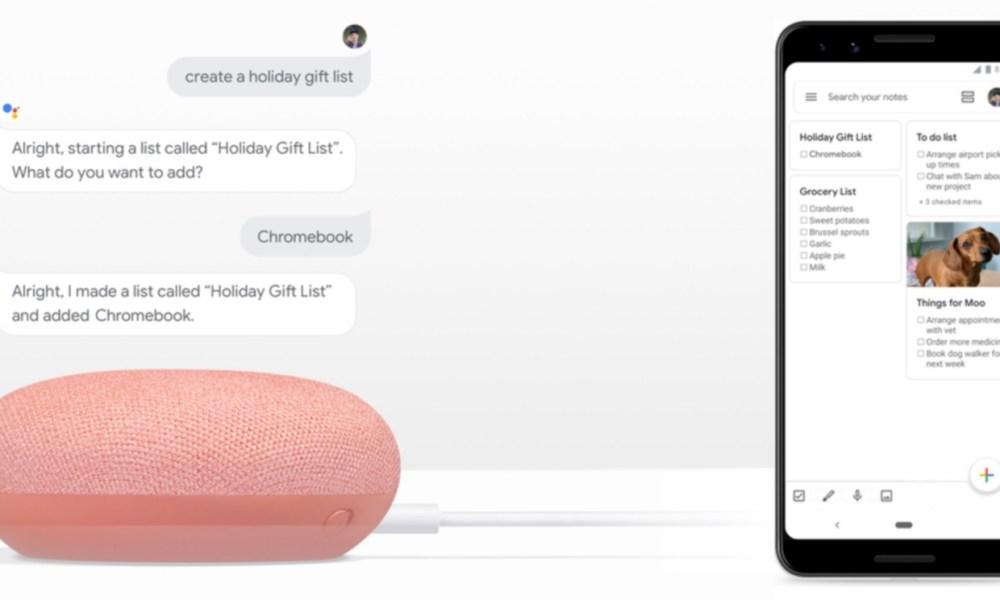 Google Assistant Keep
