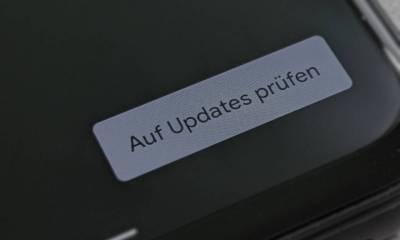 Auf Updates prüfen Header