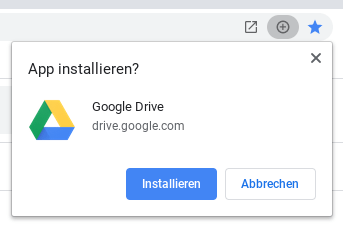 Google Drive PWA Installation