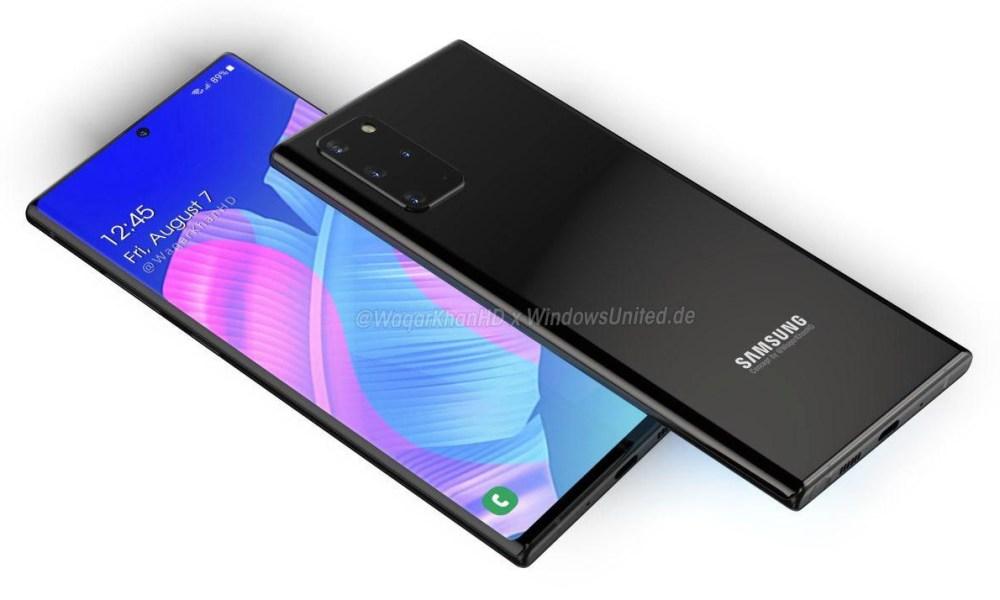 Samsung Galaxy Note 20 Rendering Konzept