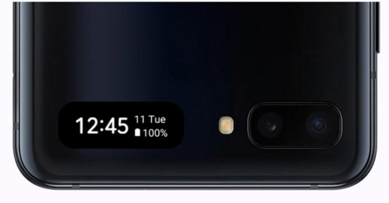 Samsung Galaxy Z Flip Außendisplay