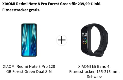 Redmi Note 8 Pro + Mi Band 4 Bundle Angebot Mediamarkt