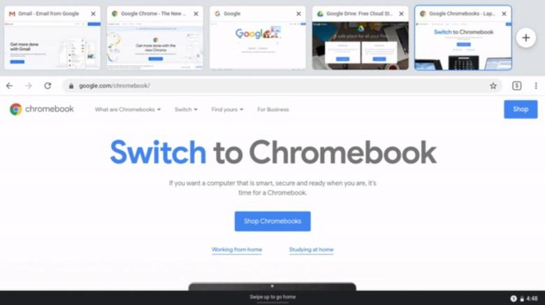 Chrome Os Tab Strip