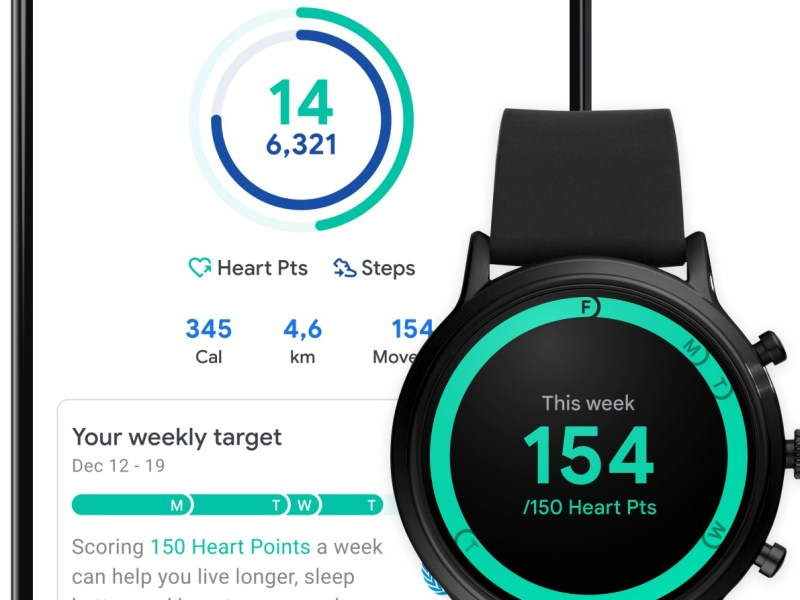 Google Fit Schritte Redesign Header