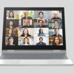 Google Meet Large Video Calls 16 Member Mockup Pixelbook Chromebook Header