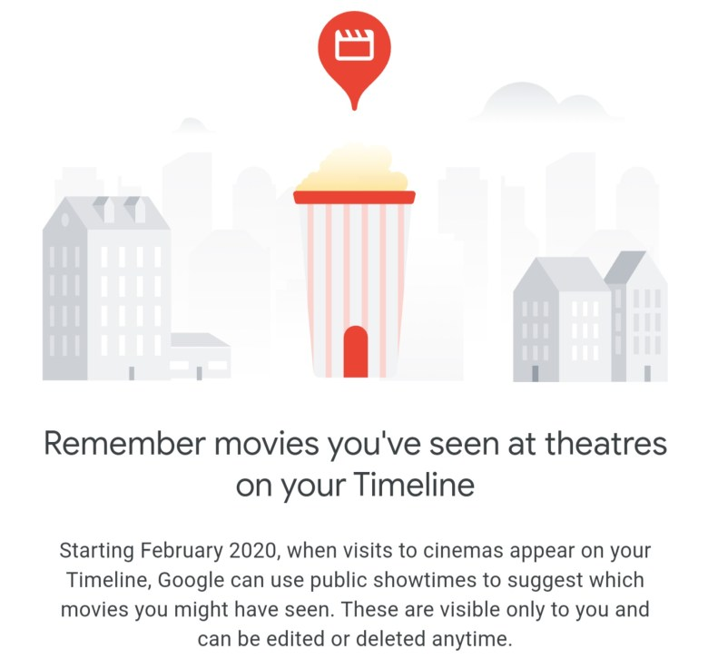 Kino Ticket Zeitachse Google Maps 2