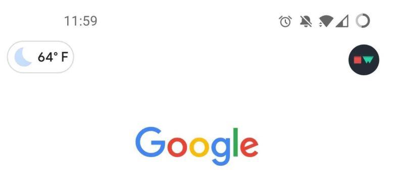 Google App Wetter Links Oben