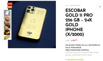 Iphone Escobar Gold