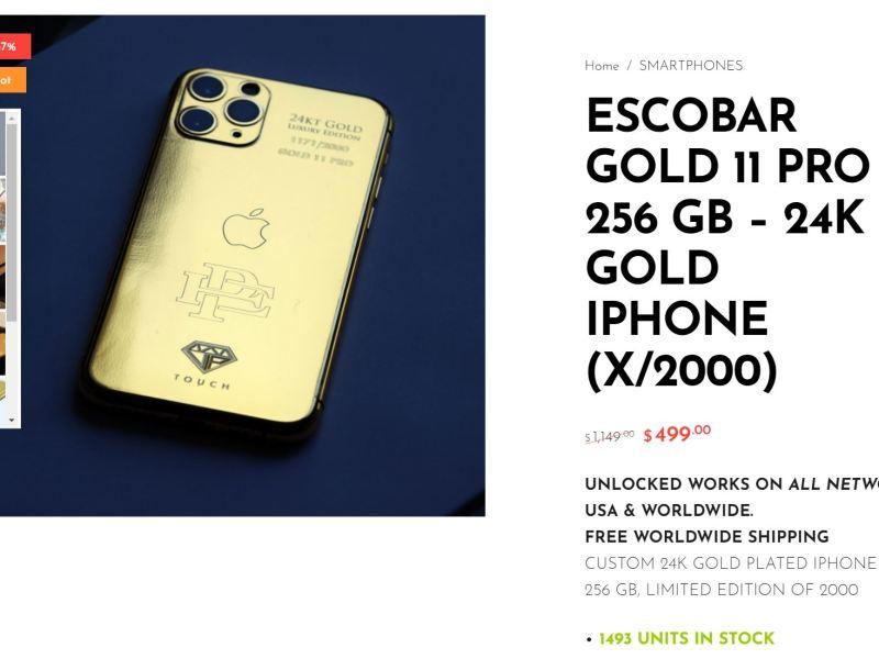 Iphone Escobar Gold