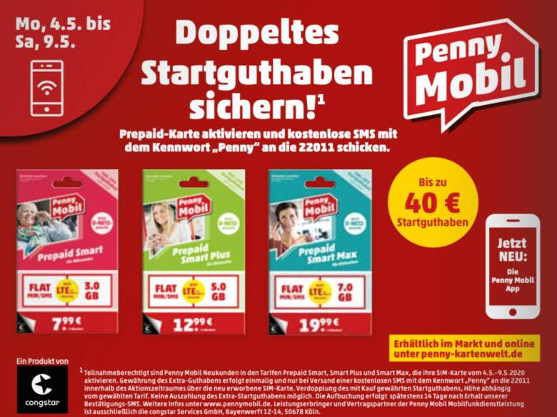 Penny Mobil Anfang Mai Aktion