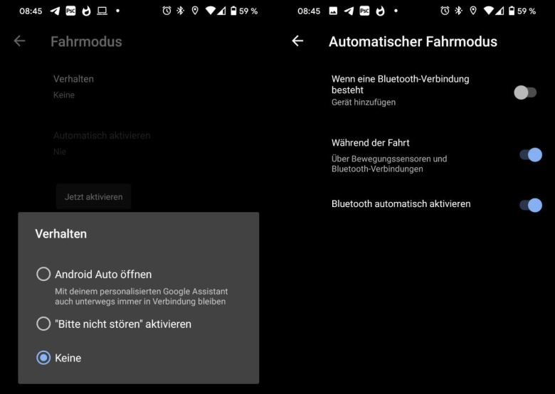 Android Pixel Fahrmodus