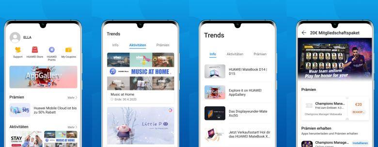 Huawei Member Center Screenshots