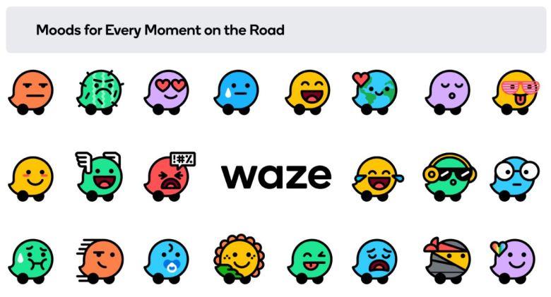 Waze Farben Rebrand