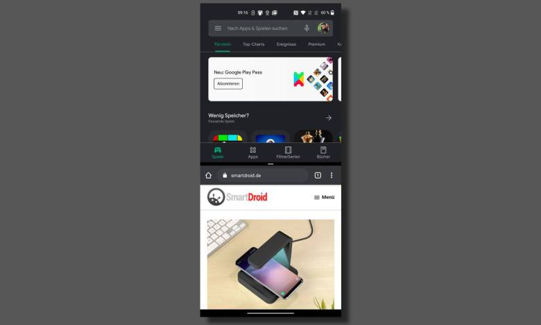 Android Schnellzugriff ändern