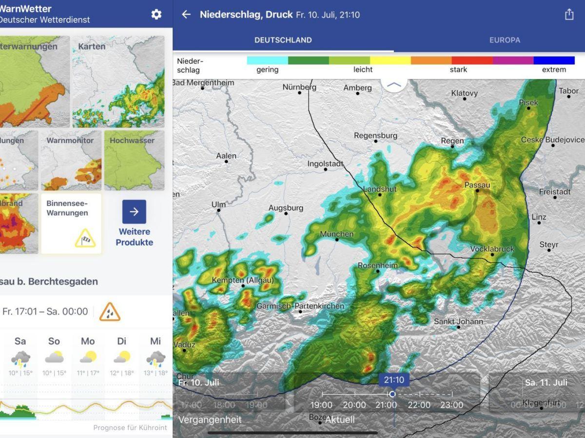 Warnwetter App 3.0 Tablet
