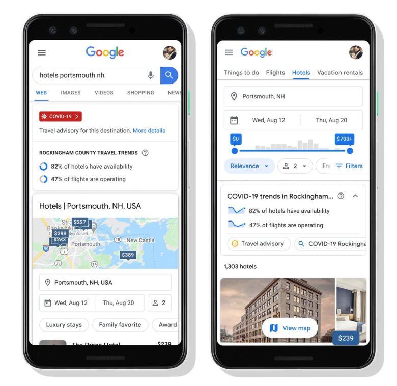 Google Maps Verfügbarkeit Flüge Und Hotels