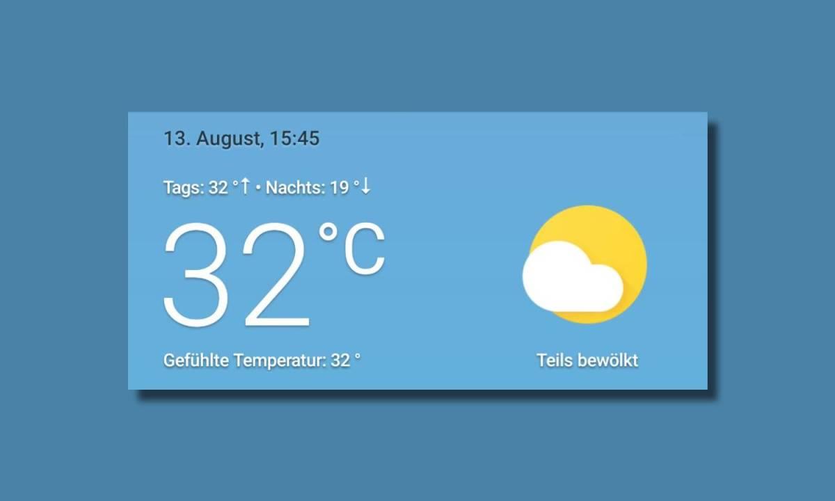 Google Wetter App