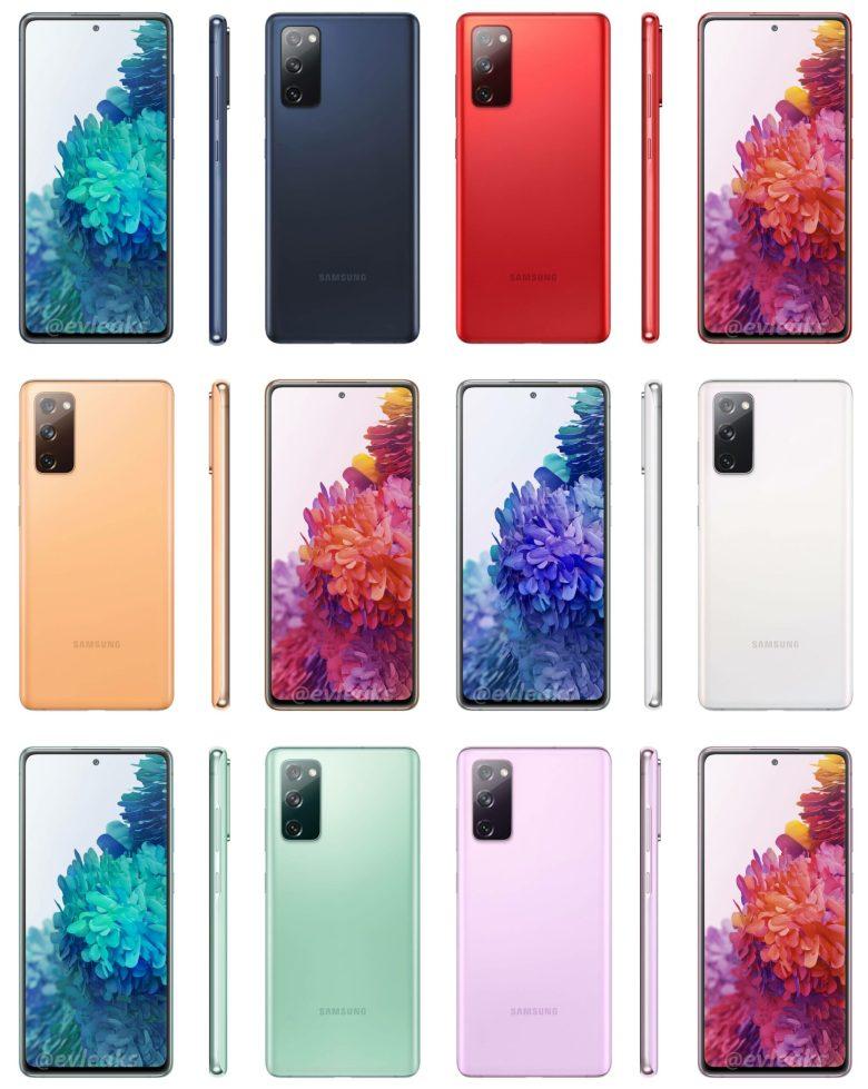Samsung Galaxy 20 Fan Edition Alle Farben Evleaks