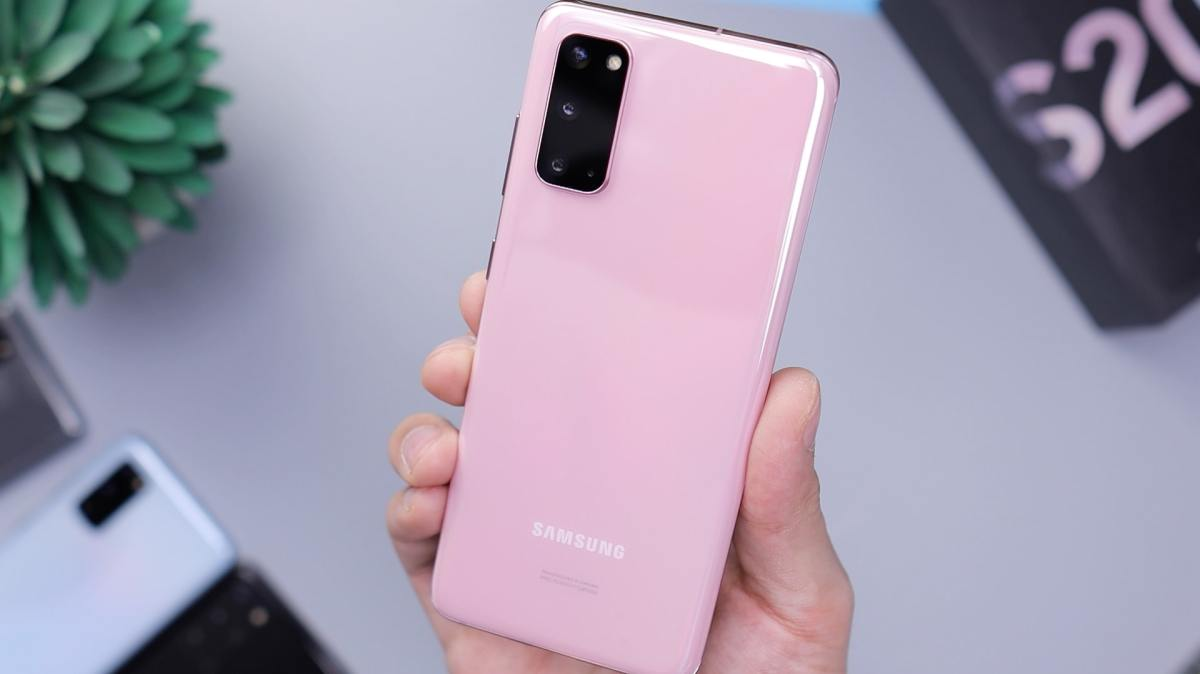 Samsung Galaxy S20 Cloud Pink Daniel Romero Fnqzzi5m73y Unsplash