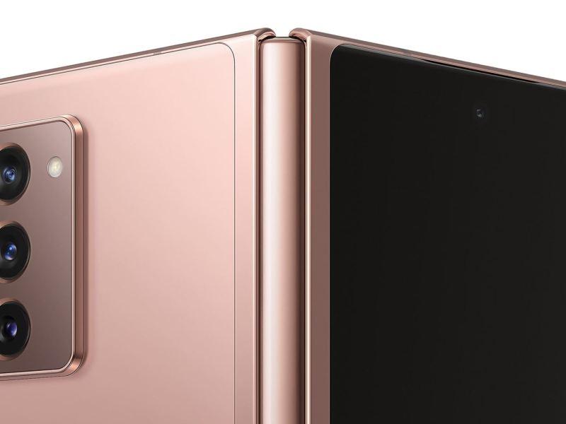 Samsung Galaxy Z Fold 2 Rückseite Offen Scharnier