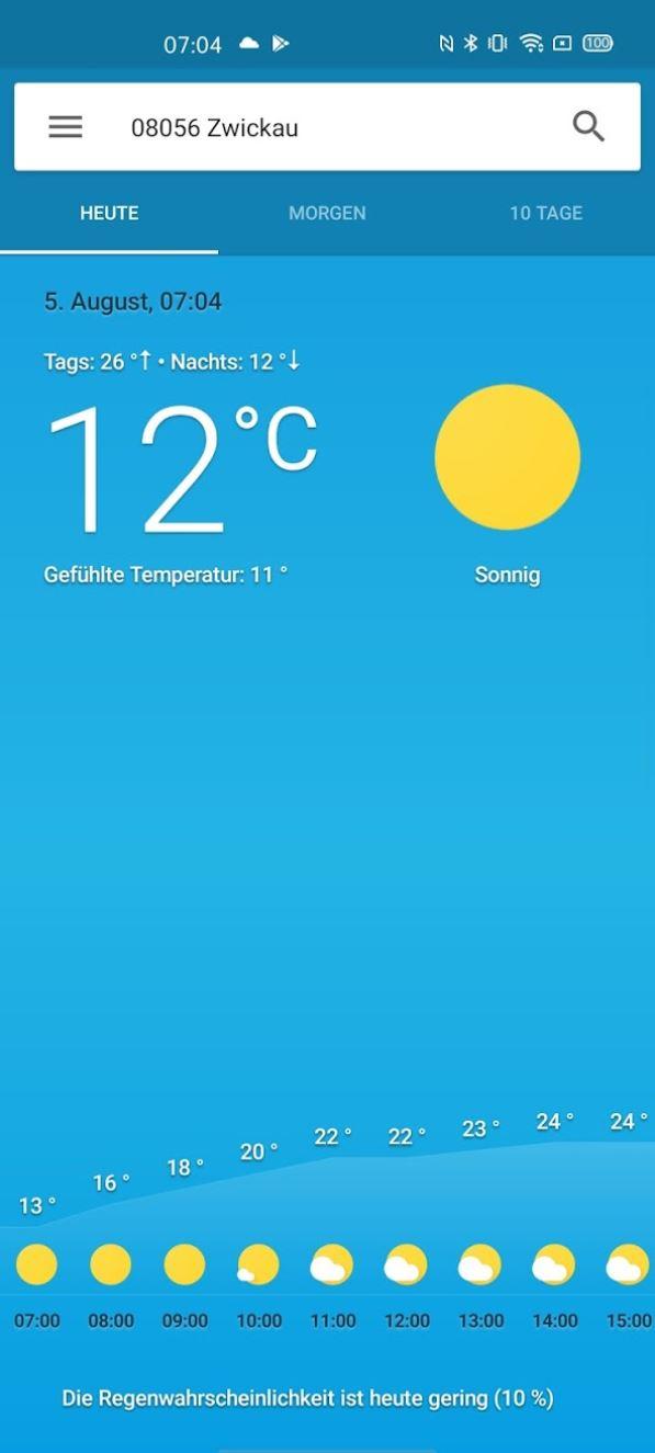 Wetter App Google