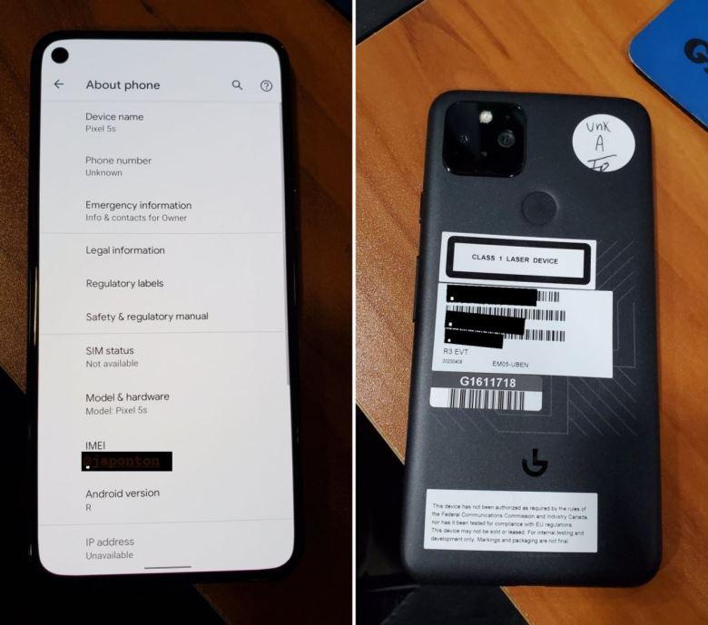 Google Pixel 5s Leak