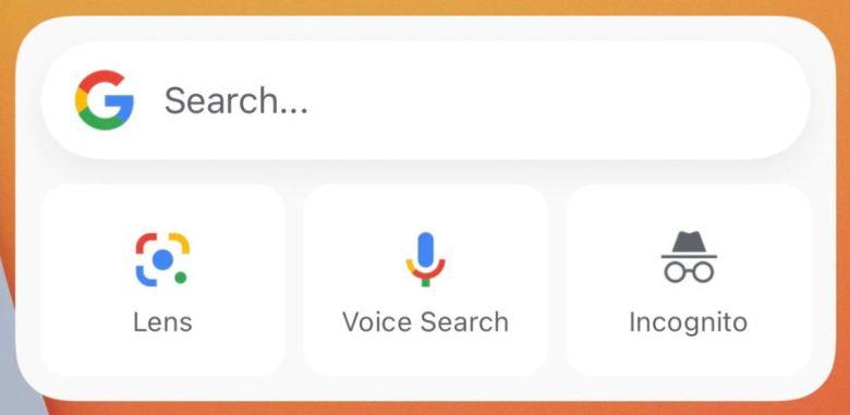 Google Widget Ios