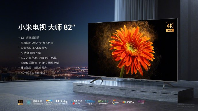 Xiaomi Mi Master Series Extreme Edition 82 Zoll Specs China