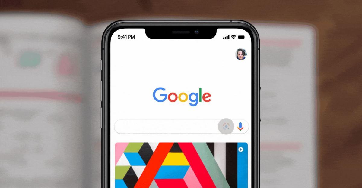 Google Lens Suchleiste Head
