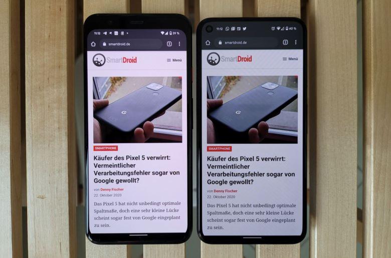 Google Pixel 4 Und Pixel 5