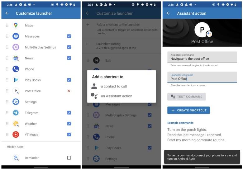 Google Assistant Verknüpfungen Android Auto