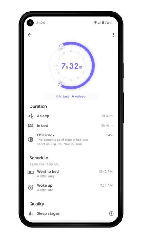 Google Fit Schlafdaten