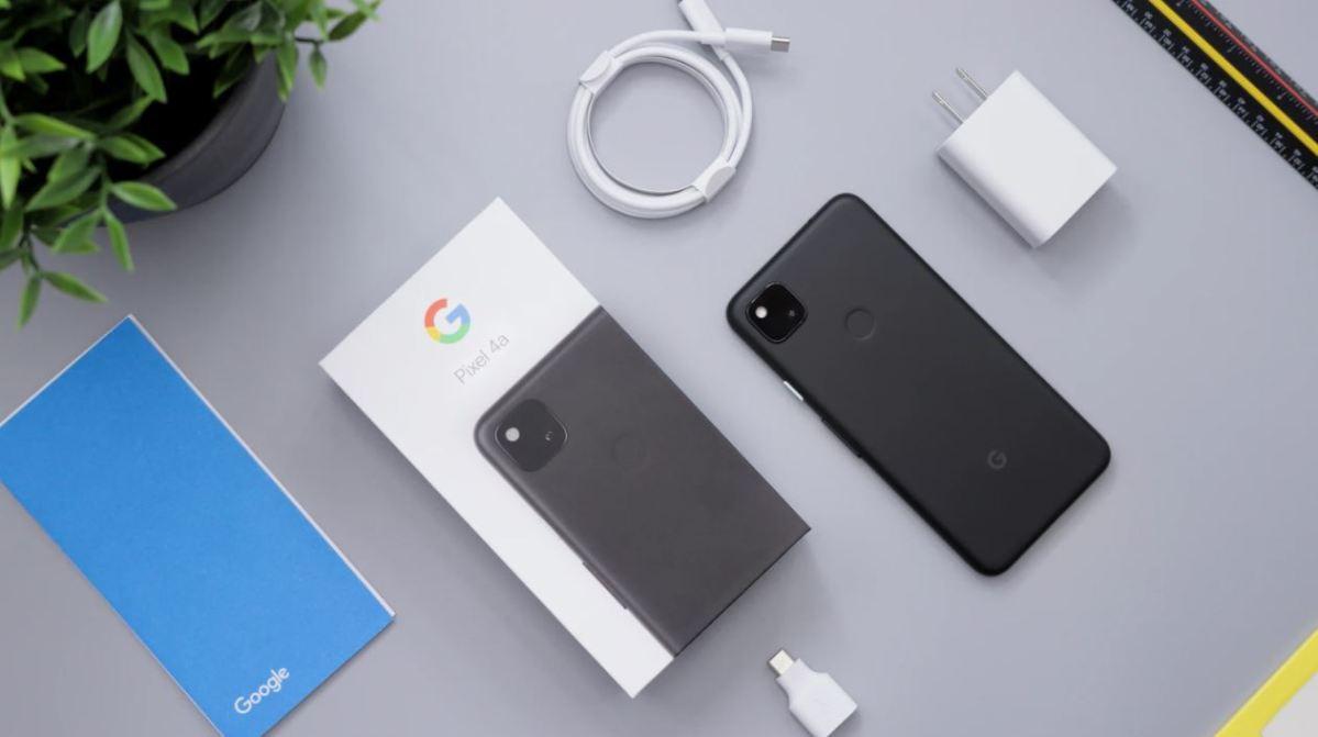 Google Pixel 4a Ausgepackt Unboxing Paket Box Verpackung Ovp
