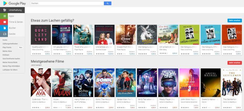 Google Play Web Screenshot