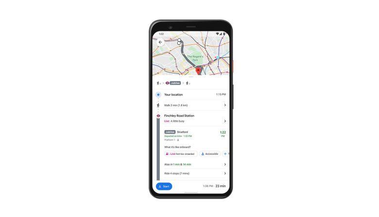 Live Transit Google Maps