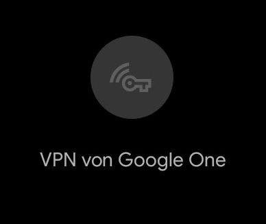 Vpn Von Google One Schnelleinstellungen