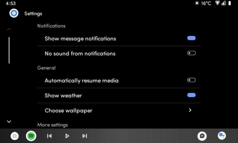 Android Auto Wallpaper Einstellungen