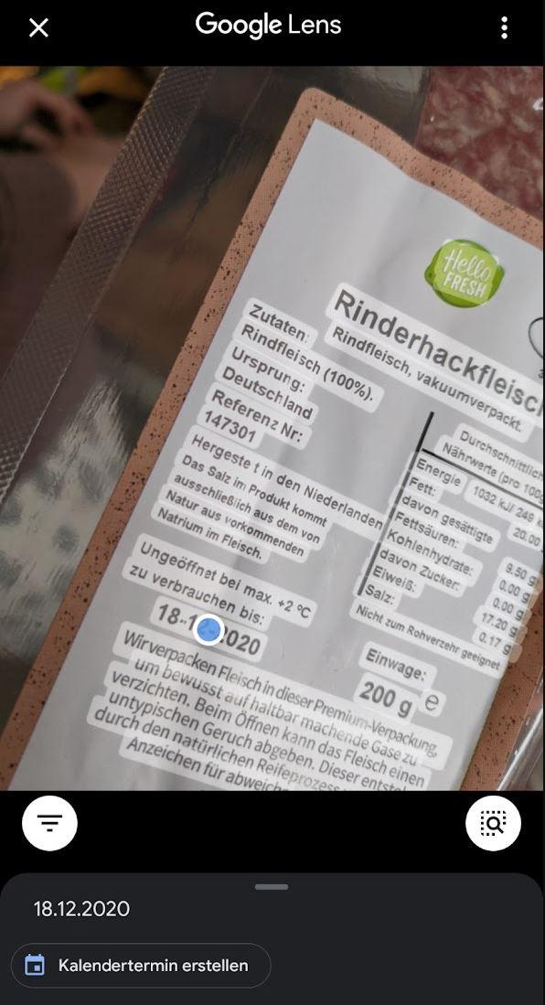 Google Lens Texterkennung