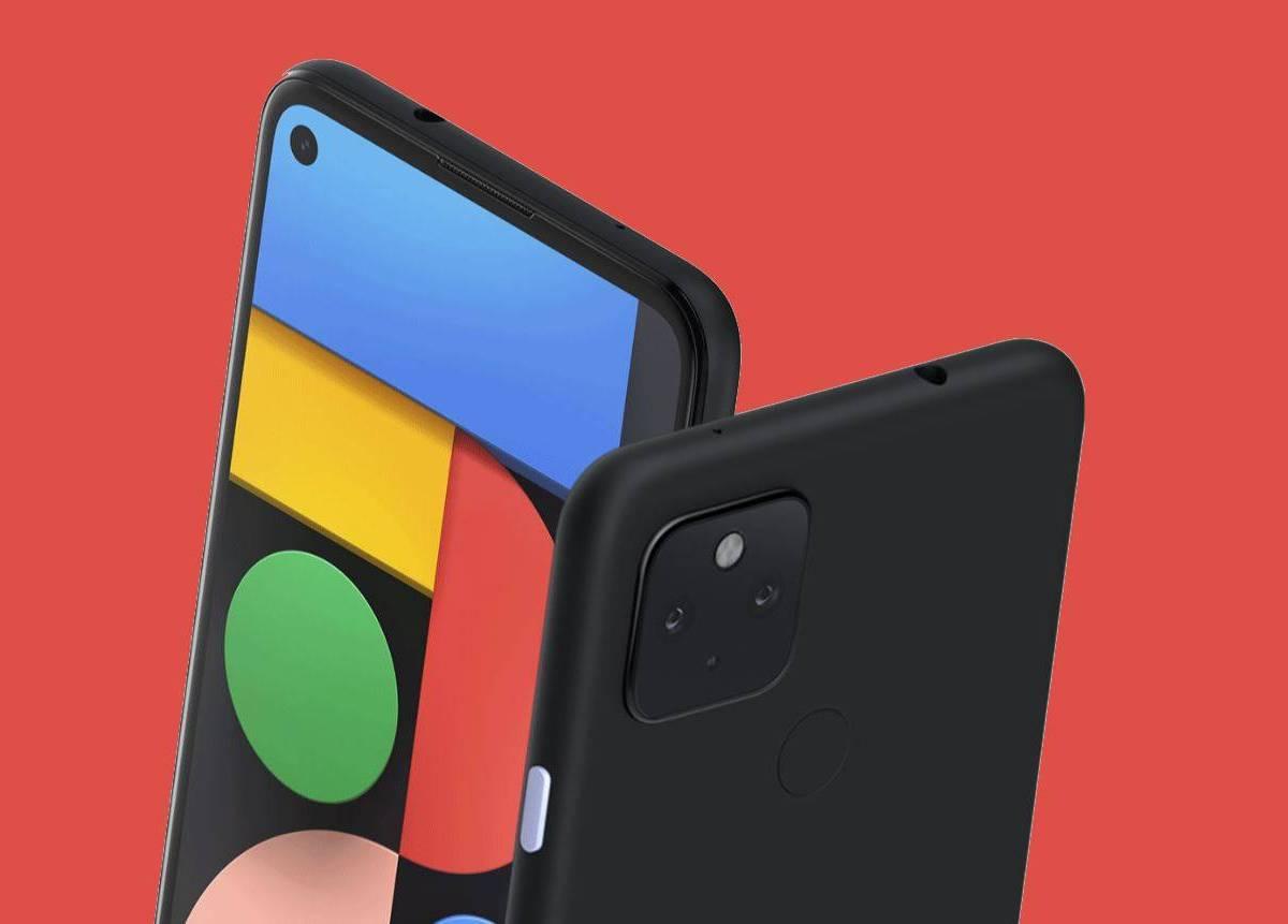 Google Pixel 4a 5G Roter Hintergrund