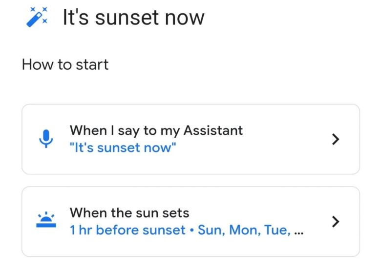 Sonnenstand Google Home Assistant