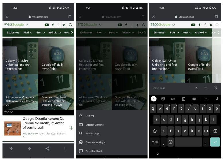 Google App Action Bar Unten