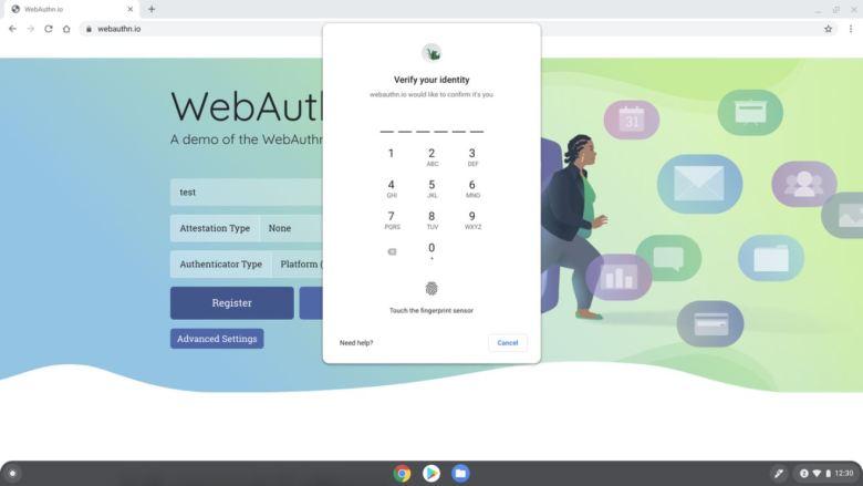 Webauthn Chrome Os