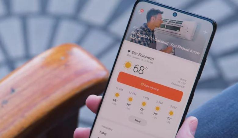 Werbung Samsung Wetter App