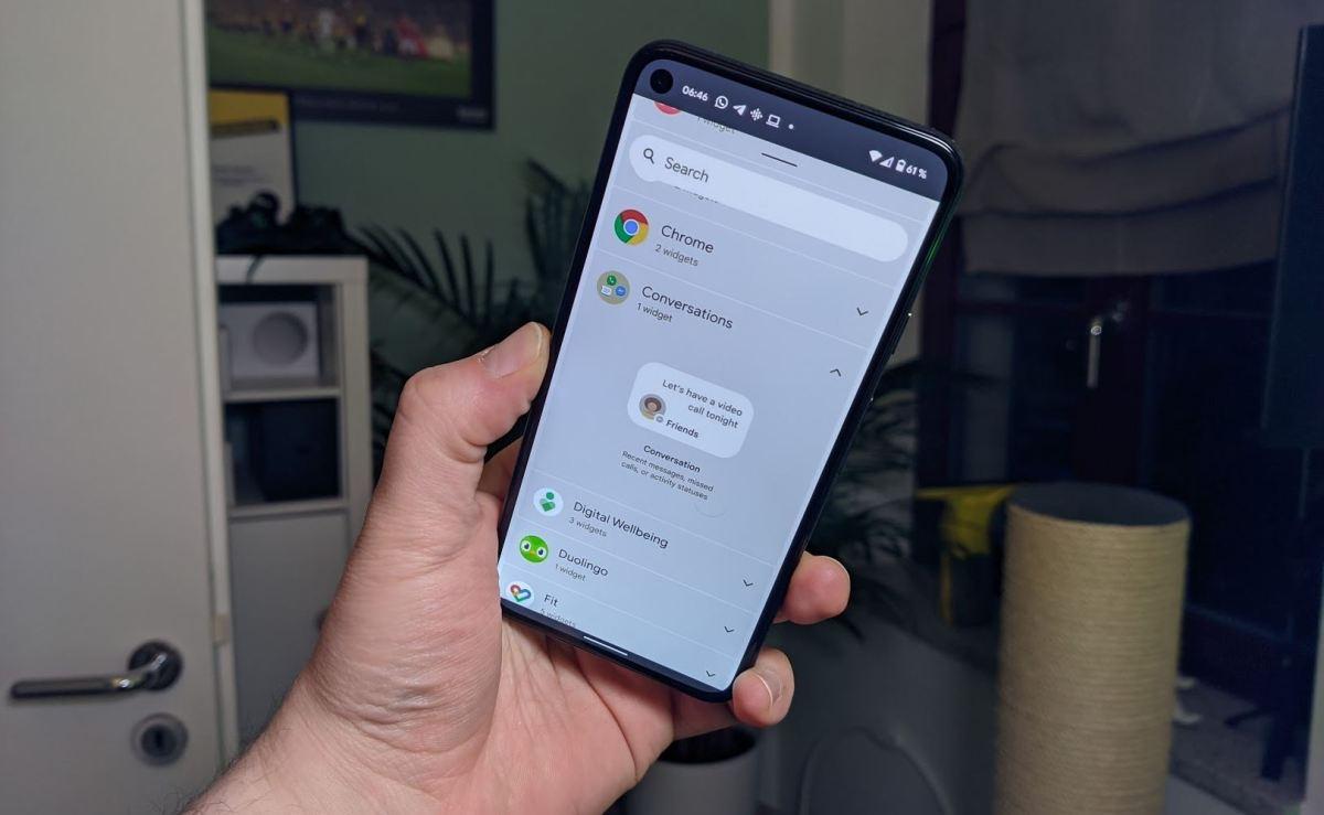 Android 12 Mockup Widgetauswahl