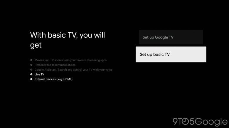 Modo básico de Google TV