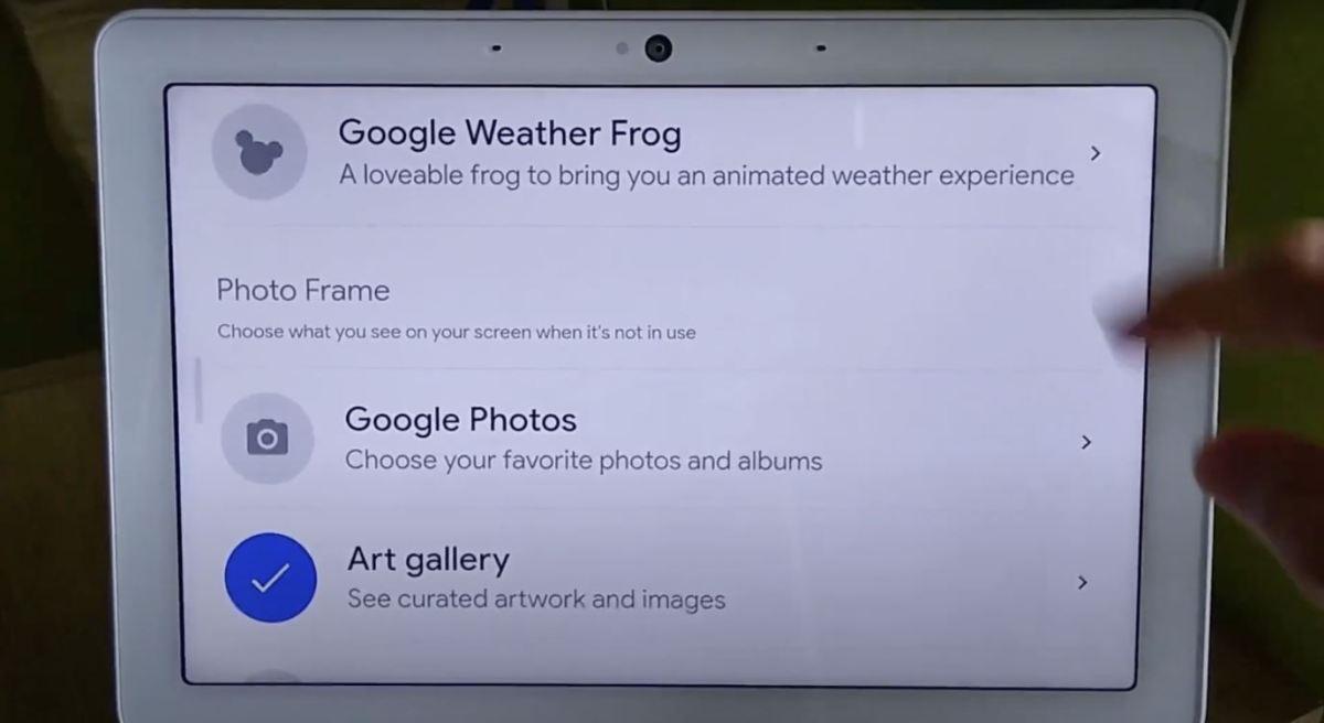 Google Wetterfrosch Smart Display