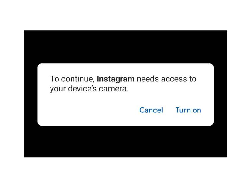 Kamera Block Instagram Android 12