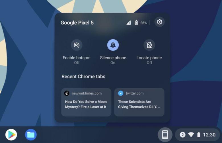 Phone Hub Chromebook
