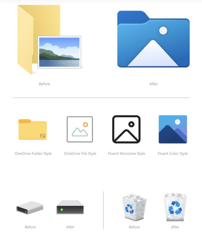 Windows 10 Neue Icons Festplatte Papierkorb