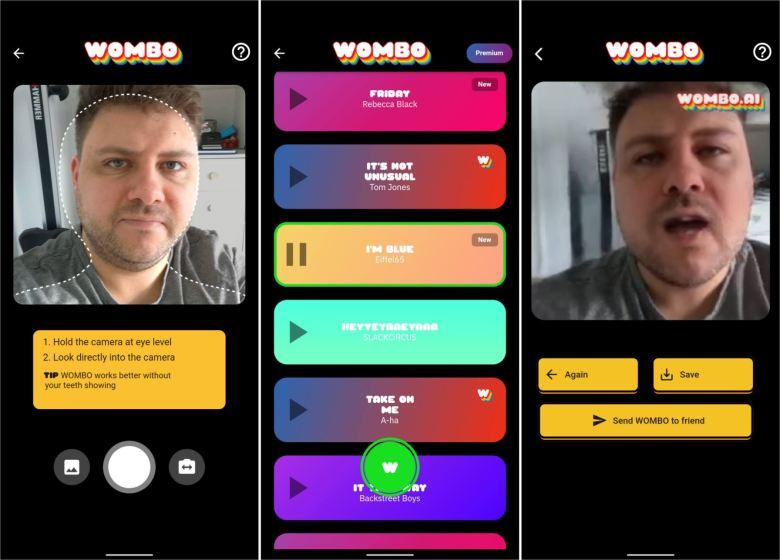 Wombo Screenshots